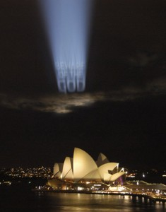 Beware of the God Projection over the Sydney Opera House, 2001